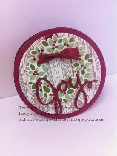 Stamp with Ter: Wondrous Wreath Created by Terri Antoniw Images ©Stampin' Up! http://stampwithter.blogspot.com #stampwithter #watercoolerbloghop  August Wacky Watercooler Blog Hop