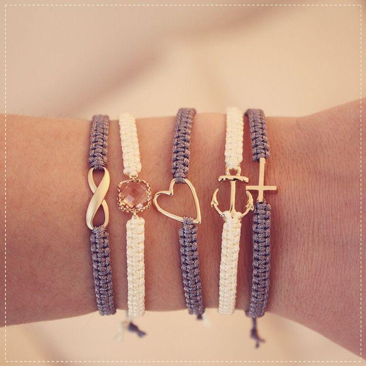 DIY Freundschafts-Armbänder knüpfen – #accessoire #DIY #FreundschaftsArmbände…
