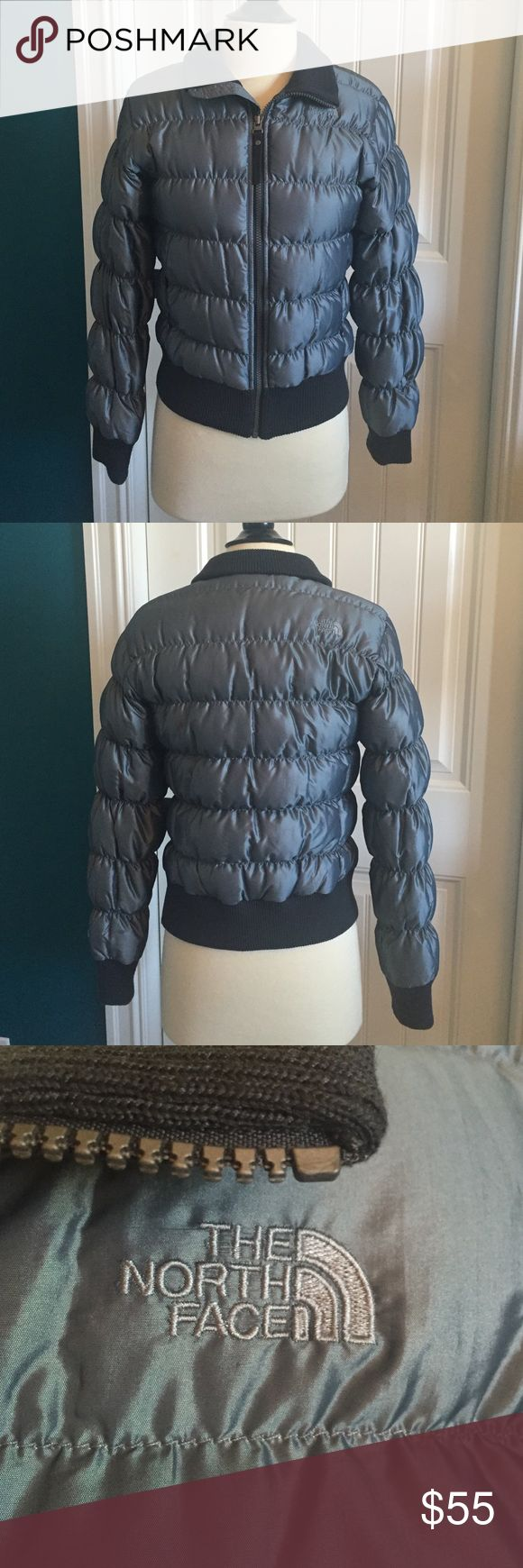 North Face Coat North Face goose down coat. Excellent condition. Dark grey/pewter color. No stains or holes. No trades The North Face Jackets & Coats Puffers