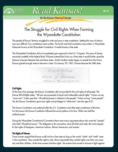 000 Struggle for civil rights when writing the state