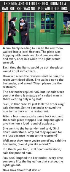This Most Embarrassing Moment For A Nun. This Is Priceless. funny jokes story lol funny quote funny quotes funny sayings joke humor stories