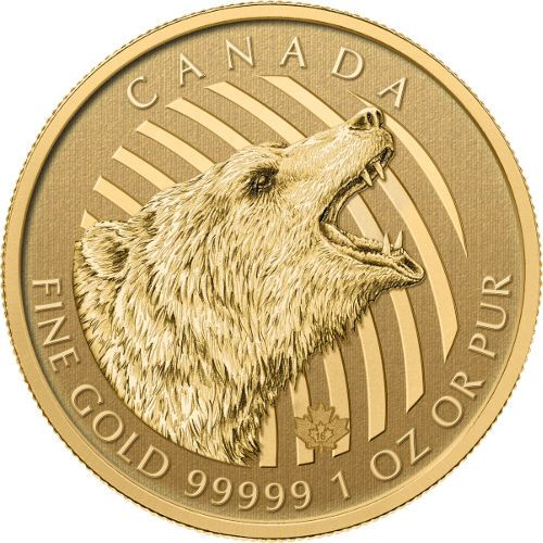 2016 1 oz Canadian Gold Roaring Grizzly Coins from JM Bullion™