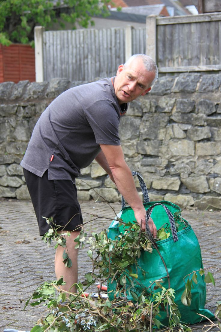 One of our clients doing the gardens at our move-on accommodation in Hodthorpe.