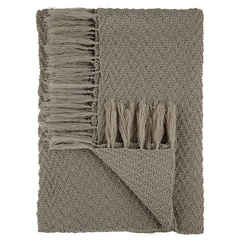 Buy John Lewis The Basics Zigzag Weave Throw Online at johnlewis.com