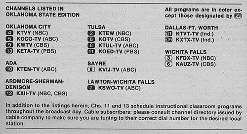 https://flic.kr/p/41vCn1 | Oklahoma State Edition (April 3, 1976) | From my TV Guide collection.