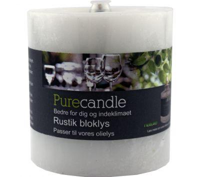 stearinlys med lav partikelforurening som fx. Pure candle (kan købes i Bauhaus)