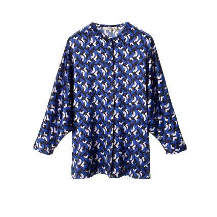 BATWING BLOUSE #lautrechose #fashion #blue #trend #FW2013