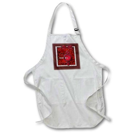 3dRose God Jul, Merry Christmas in Swedish, Ruby Glass Ornament , Medium Length Apron, 22 by 24-inch, With Pouch Pockets