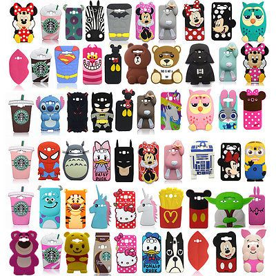 3D Cartoon Soft Silicone Rubber Back Case Cover For Samsung Galaxy S7 Edge & 626