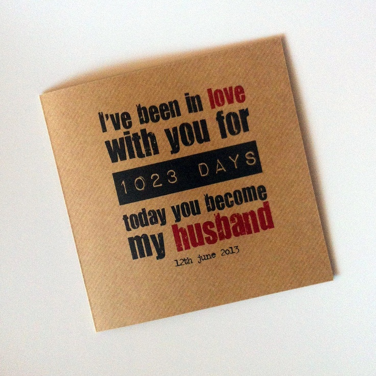 Personalised wedding day cards by Wix user & stationary designer Those Little Things