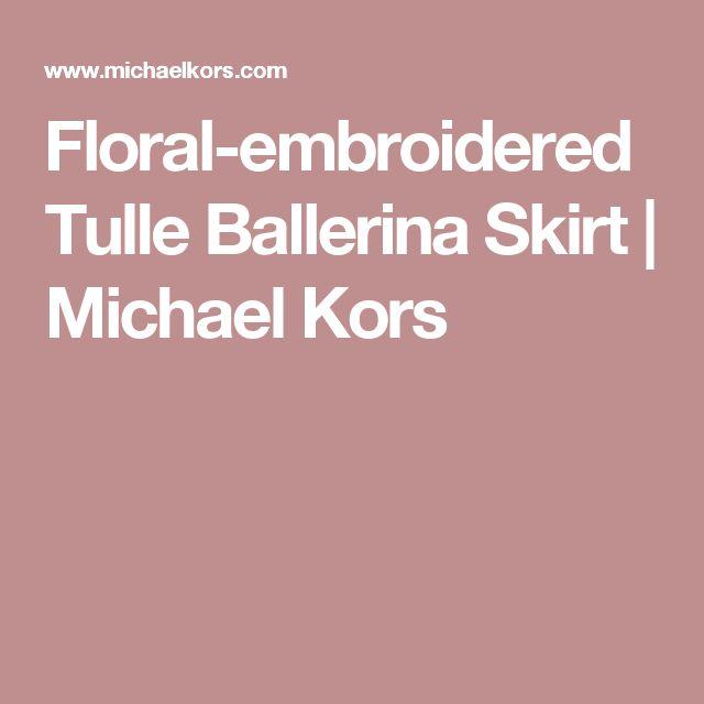 Floral-embroidered Tulle Ballerina Skirt | Michael Kors