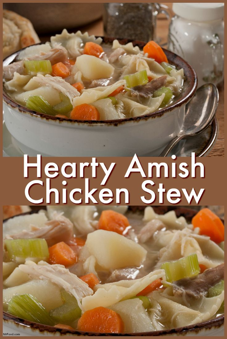 This Hearty Amish Chicken Stew is full of good old-fashioned flavor, and cooks…= LOOKS AND SOUNDS REALLY GOOD =