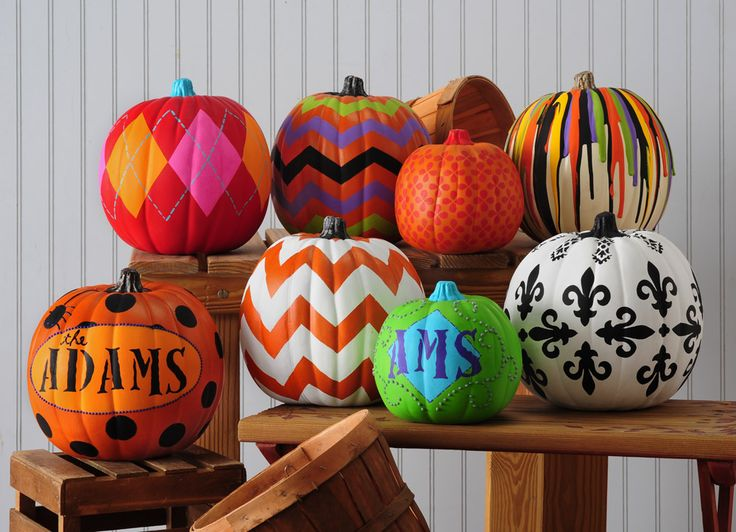 Fun halloween decorating ideas with paint not so scary Funny pumpkin painting ideas