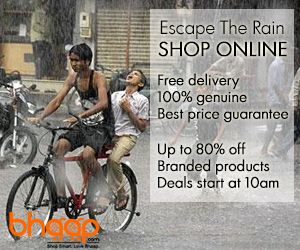 Beat the monsoons & shop online for great prices & service: http://www.bhaap.com