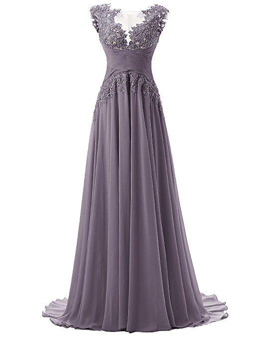 Dresstells Damen Lang Chiffon Promi-Kleider Maxi ...