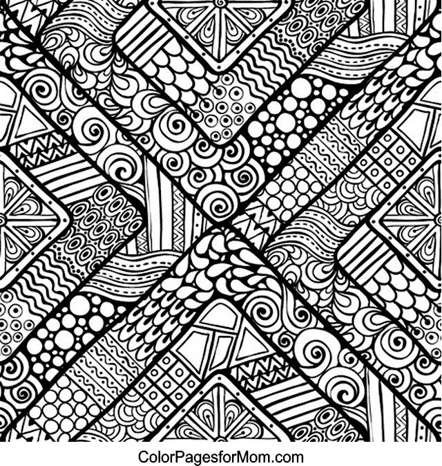 doodles 13 coloring page pattern