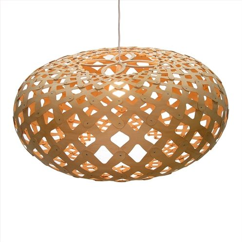 David Trubridge Kina 440 Pendant Lamp Modern Pendant Lighting In Bamboo