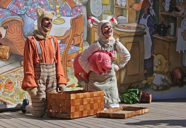 Koiramäen näytelmä: Saima-possu ja Ruuneperi. #sarkanniemi #tampere, visit: http://www.sarkanniemi.fi