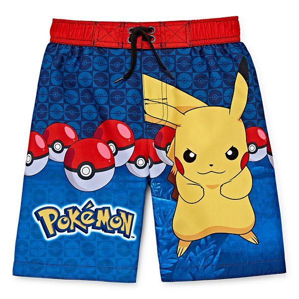 Pokemon Swim Shorts Pikachu Summer Board Swimming Shorts Trunks Swimwear Size