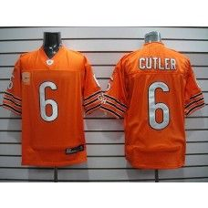 Bears #6 Jay Cutler Orange With C Patch Stitched NFL Jersey