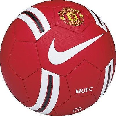 NIKE MANCHESTER UNITED PRESTIGE 2014/15 SOCCER BALL SIZE 5 BLACK/RED BARCLAYS.