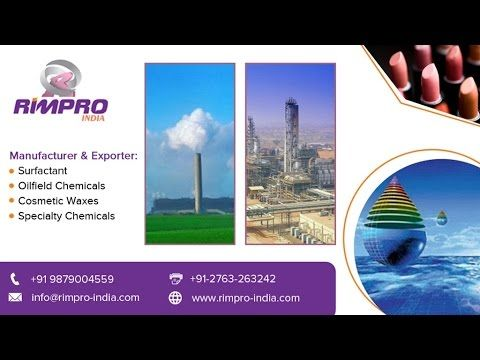 Buy Oilfield Specialty Chemicals at www.rimpro-india.com. There are various types of Specialty chemicals such as Oil field chemicals and Self-emulsifying waxes for cosmetics, Surfactants are available. The Asia and pacific continents have a considerable demand due to the rapid emerging markets, better economies and healthy manufacturing sector. In the Asian continent alone, the specialty chemicals sector value stands at 24 billion dollars and market analysts estimate it has potential to…