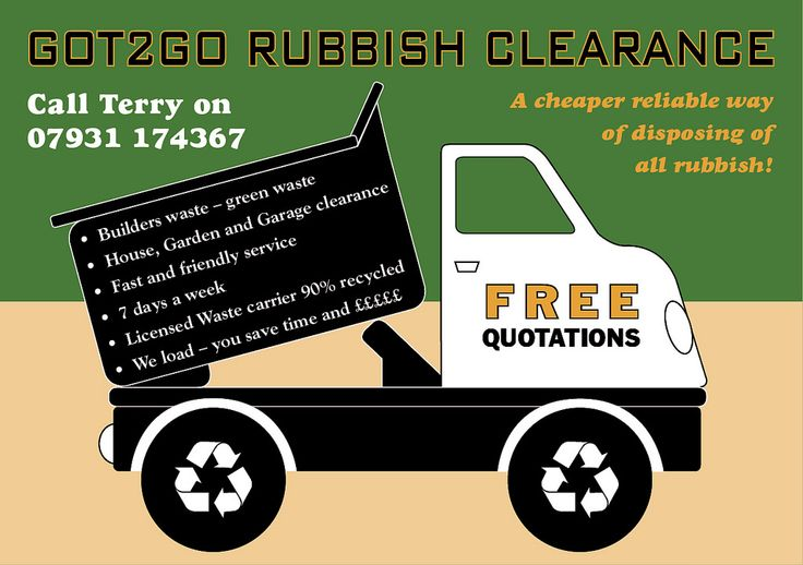 https://flic.kr/p/oypeFM | GOT2GO Rubbish Clearance- Flyer 1 | Dump/Garbage/Tipper Truck  Recycling or Junk Hauling Business
