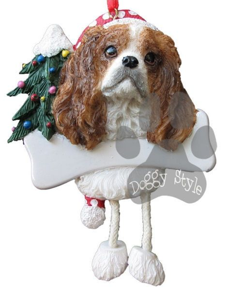 Dangling Leg Cavalier King Charles Spaniel Dog Christmas Ornament http://doggystylegifts.com/products/dangling-leg-cavalier-king-charles-spaniel-dog-christmas-ornament