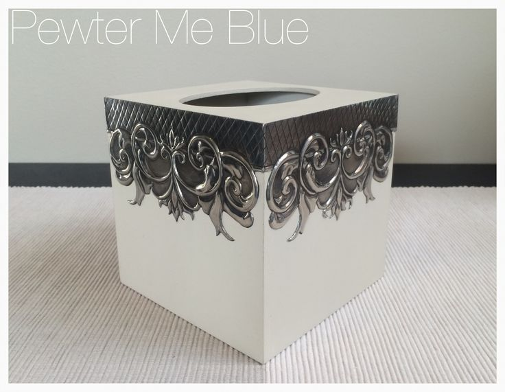 Tissue box by Yvonne - Pewter Me Blue www.fb.com/pewtermeblue