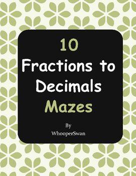 Fractions to Decimals Maze…