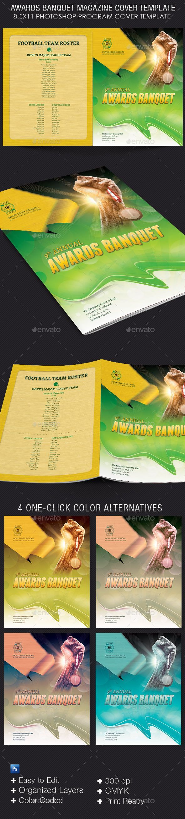 high school football program template - awards banquet magazine cover template best magazine