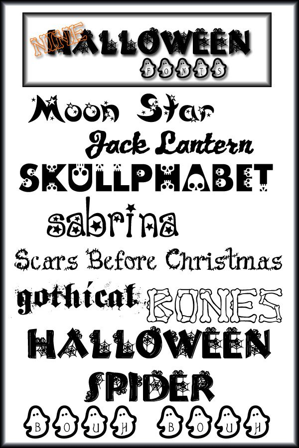 halloween font in photoshop