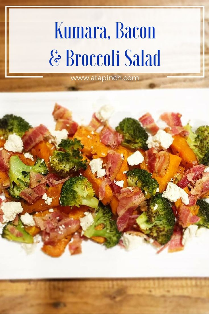 Kumara, Bacon & Broccoli Salad So simple, yet so delicious! 1 large Sweetas Kumara (I used the orange variety), chopped into ...