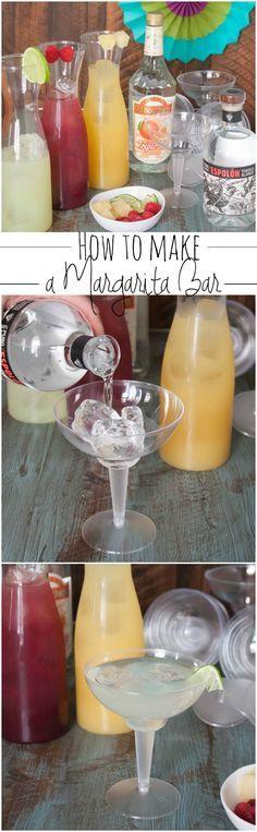 How to make a margarita bar, a super delicious cocktail, margaritas made 3 ways