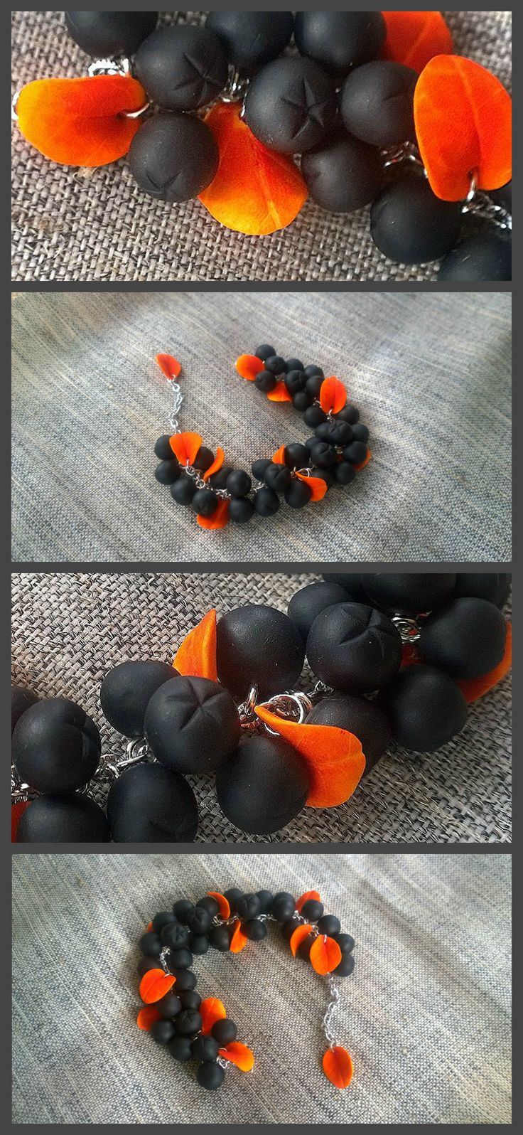 #berry #polymerclay #handmade #fimo #fimoclay #foodjewelry #craft #berries #арония #рябина #etsy