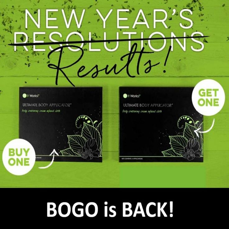 It starts RIGHT NOW! BOGO Wraps!! Buy one Box, Get One FREE!  http://allisonejackson.myitworks.com/