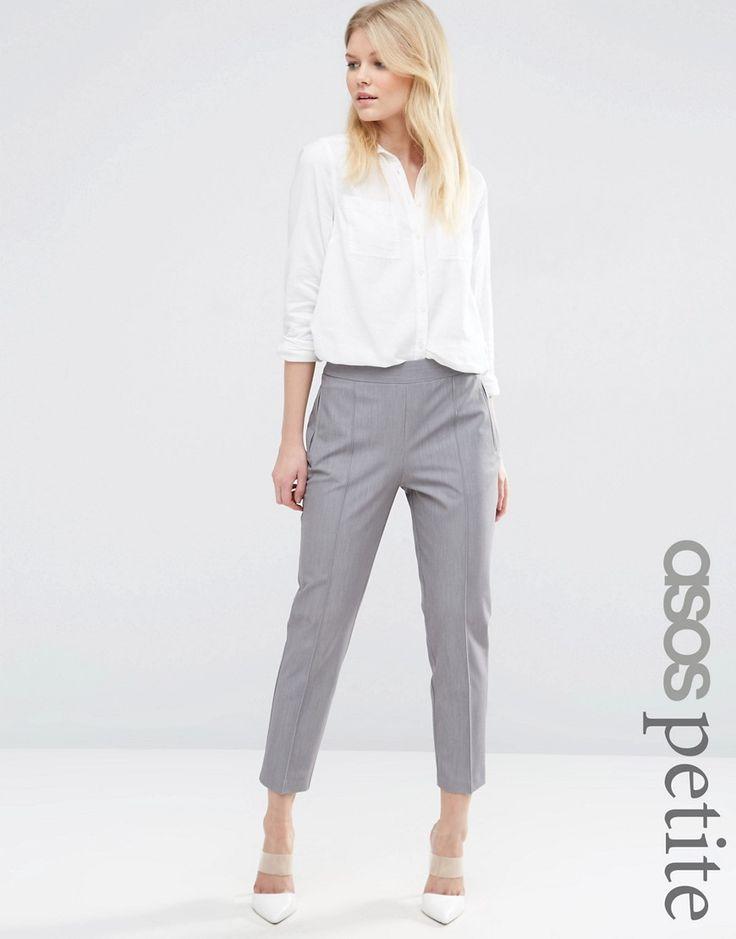 Image 1 ofASOS PETITE Trouser With High Waist