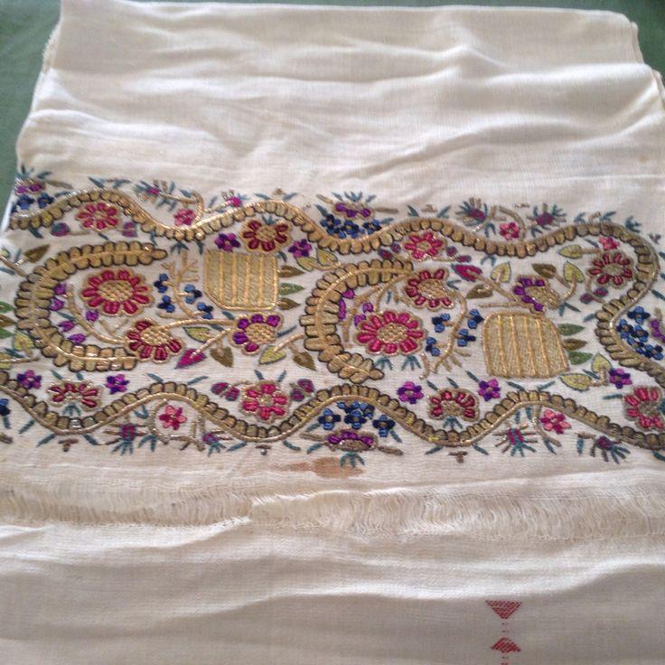 1890- Hamam havlusu- Türk işi ve Telsarma. Handmade