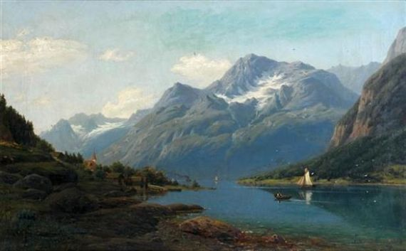 Adelsteen Normann - Mountain Landscape