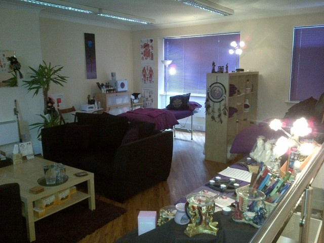 The treatment and training room at Isis Therapy Training, Hull  www.isistherapytraining.com    Theme: Mother's Day