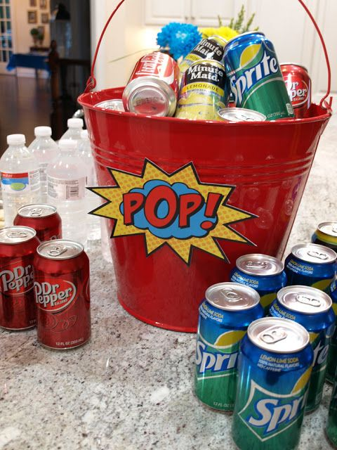 Less-Than-Perfect Life of Bliss: Grant's Super 16 Superhero Birthday Party {With Free Printables!}