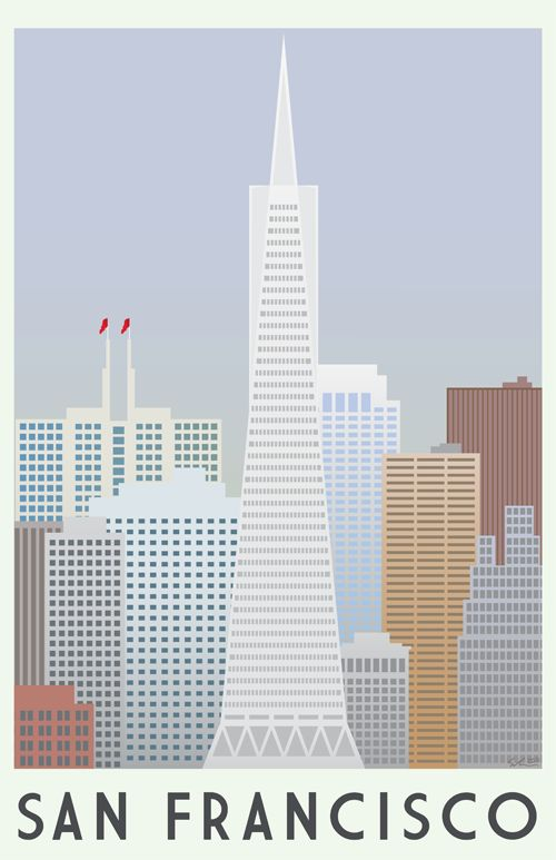 San Francisco Art Poster by Ryan Schreider