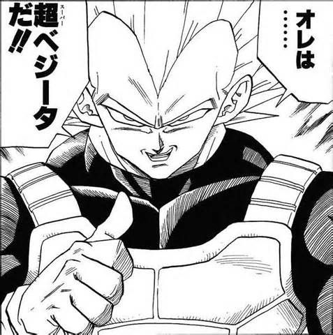 """I am Super Vegeta!"" Super Vegeta..? Really now Vegeta."