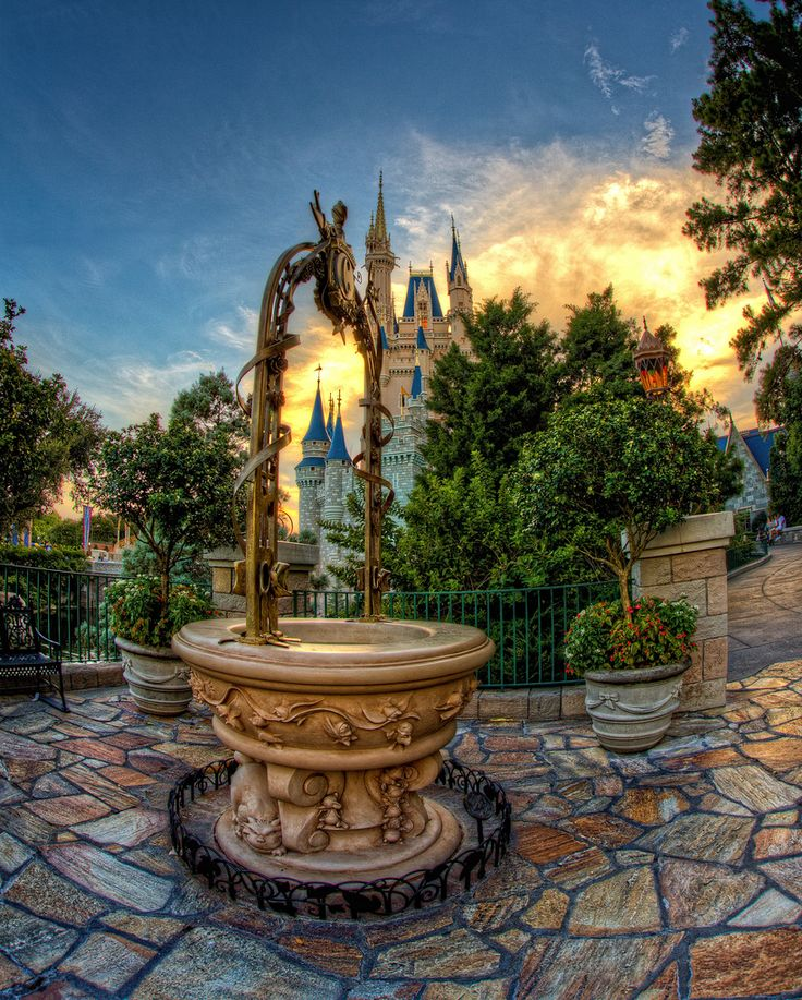 Cinderella Wishing Well ...wish it was this nice out when we got engaged!