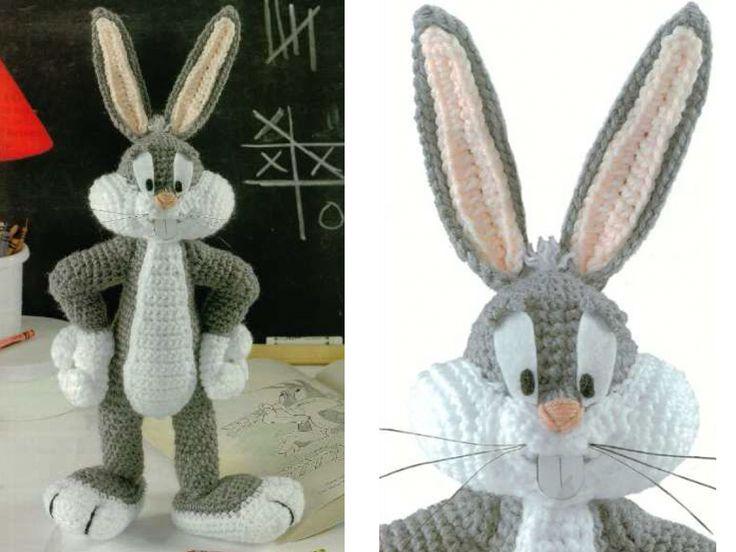Кролик Багз Банни амигуруми. Схема вязания на русском языке.