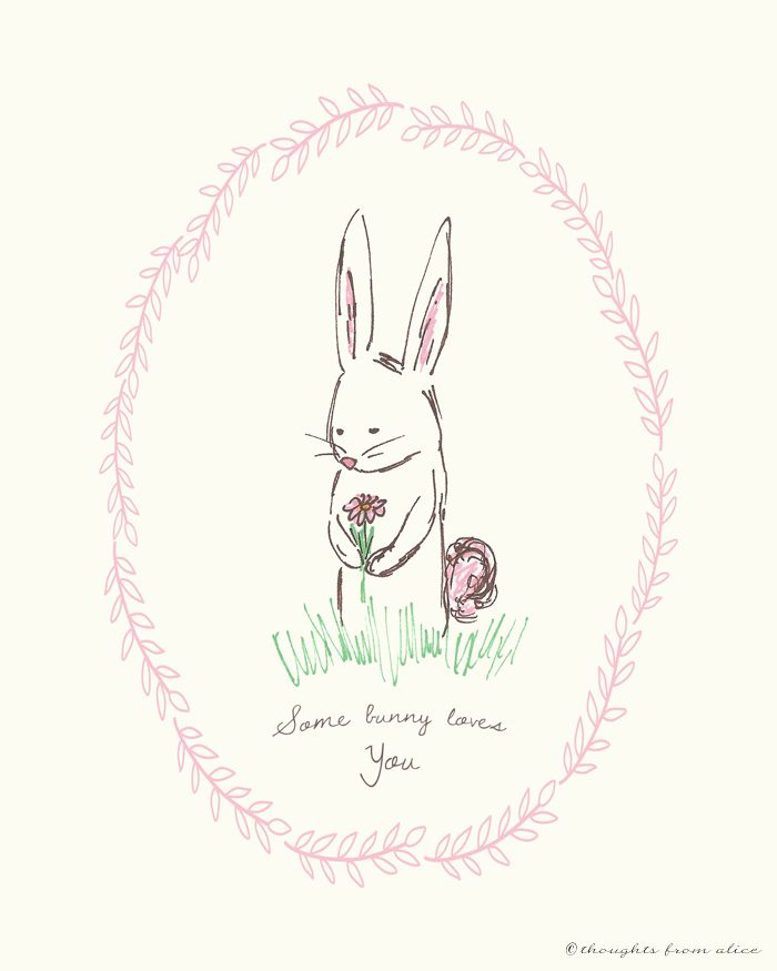 "Free Printable - ""Some Bunny Loves You"" from Thoughts from Alice"