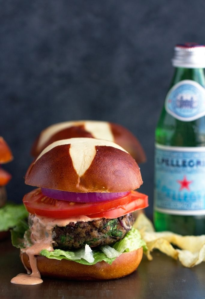 Black Bean Mushroom Burgers with Chipotle Mayo - Ready in 30 minutes ...