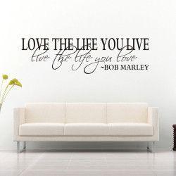 Love the life you live!  Love the life you live, live the life you love. Snygg och inspirerande väggtext som förutom det unika motivet även har en tilltalande storlek som är direkt iögonfallande!  Länk till produkt: http://www.feelhome.se/produkt/love-the-life-you-live/  #Homedecoration #art #interior #design #Walldecor #väggdekor #interiordesign #Vardagsrum #Kontor #Modernt #vägg #inredning #inredningstips #heminredning #bobmarley #kärlek #citat #motivation #Älskalivet