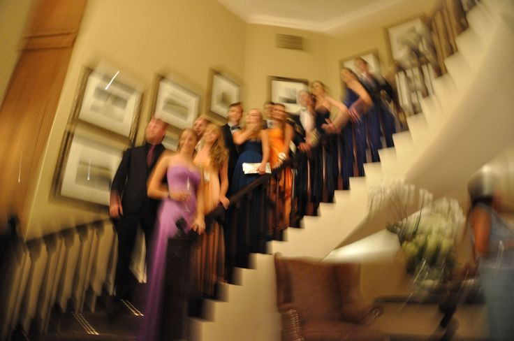 matric dance, stair case, zooming, friends, smiles