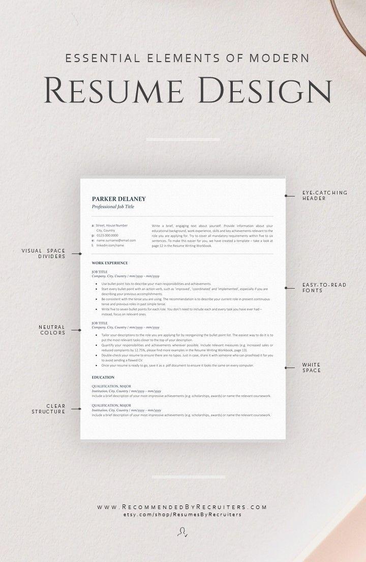 Professional Resume Template For Finance Instant Download Etsy Resume Design Modern Resume Design Resume Template Professional